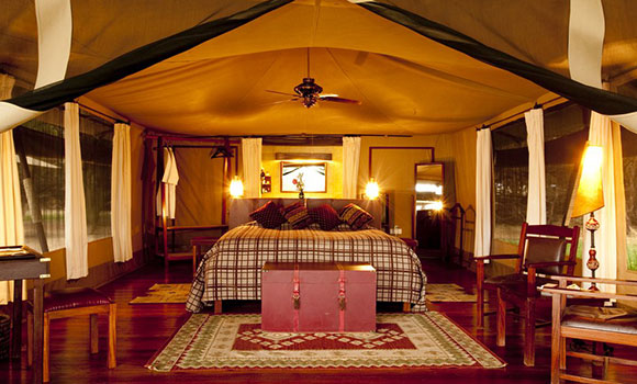 Larsen's tented camp